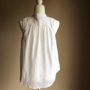 GAP Tops - Gap Sleeveless White Shirt